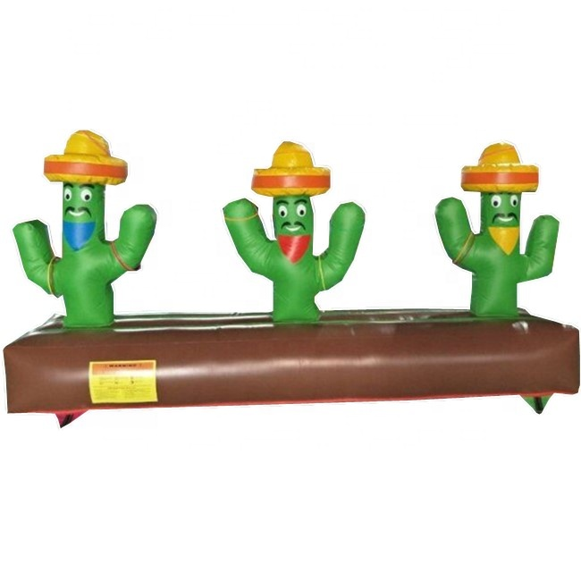 Funny Inflatable Cactus Lasso / Inflatable Cactus Ring Toss Game / Ring Toss Throwing Game for Kids and Adults