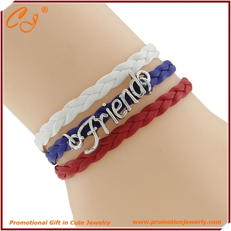 Your Name Thread Bracelet Friend Wihte Blue Red France Braided Cord Bracelet