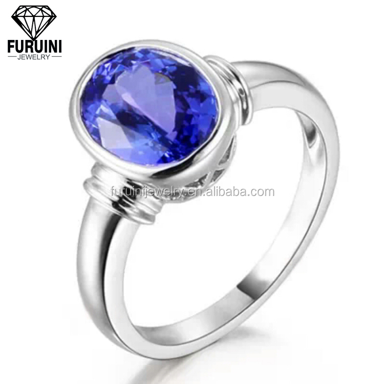 FBCRS023 Top quality single crystal ring for women,925 sterling silver embedding ring