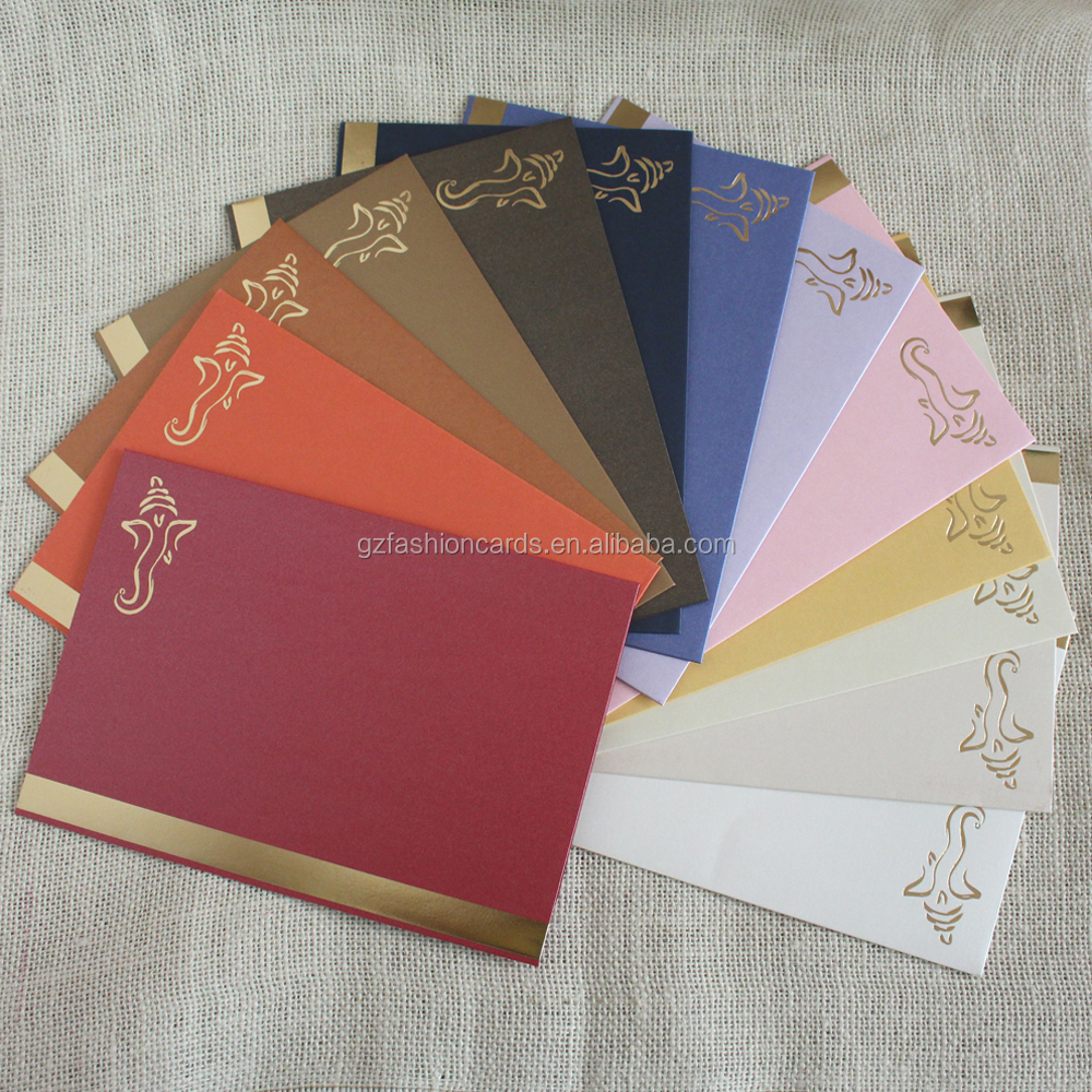 Hot Sale Personalize Handmade Tri Fold Wedding Invitations Ivory ...