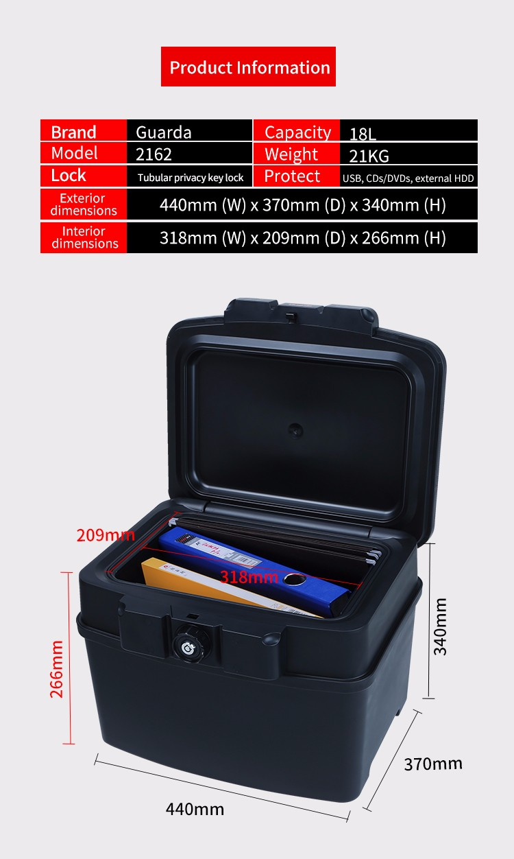 Top fire waterproof safe 407321155mm suppliers for money-5