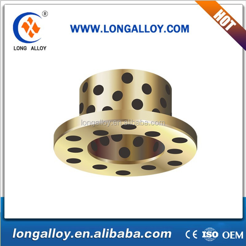 Alibaba best seller Oiless Flanged Bushing Graphite Inlaid Bushings