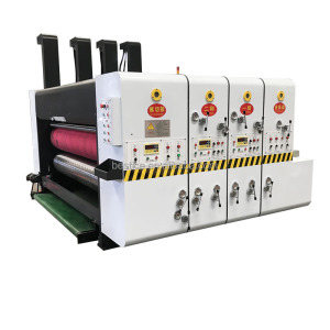 2 Colors Automatic Flexo Printer Slotter & Die Cutter Carton Box Packing Machine