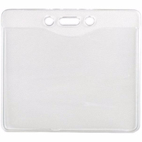 BRADY Horizontal Top Load Clear Vinyl Proximity Badge Holder, With Slot/Chain Holes 1840-5000
