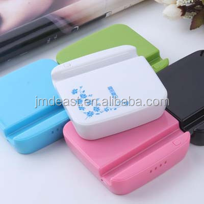 Polymer portable 10000mAH power bank for smart phone, tablet, PSP with 2USB output