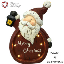 Wholesale MERRY XMAS woodcut craft decoration gift christmas with led lights