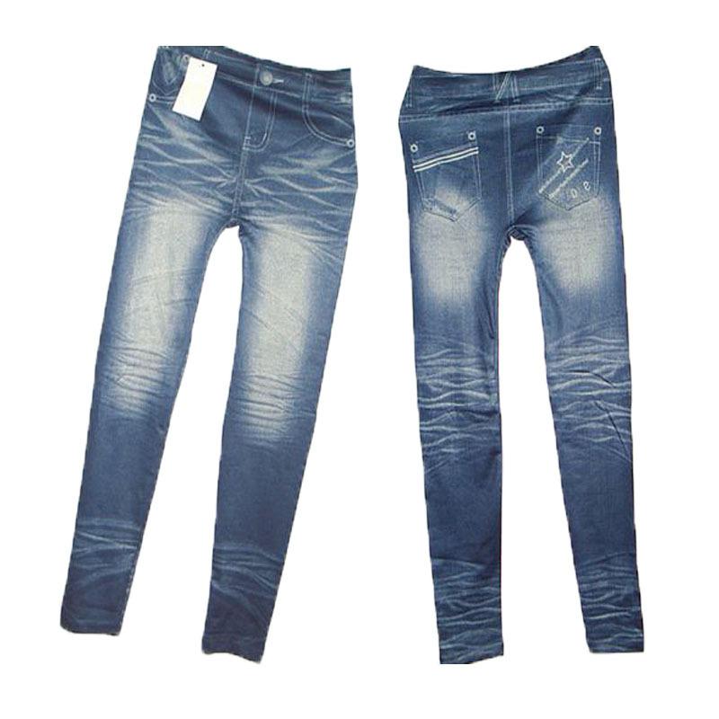 7e459b2ab6b3b Get Quotations · 2015 Fashion Women's Leggings Slim Stretchy Wear White  Leggin Pants Close-fitting Imitated Denim Jean