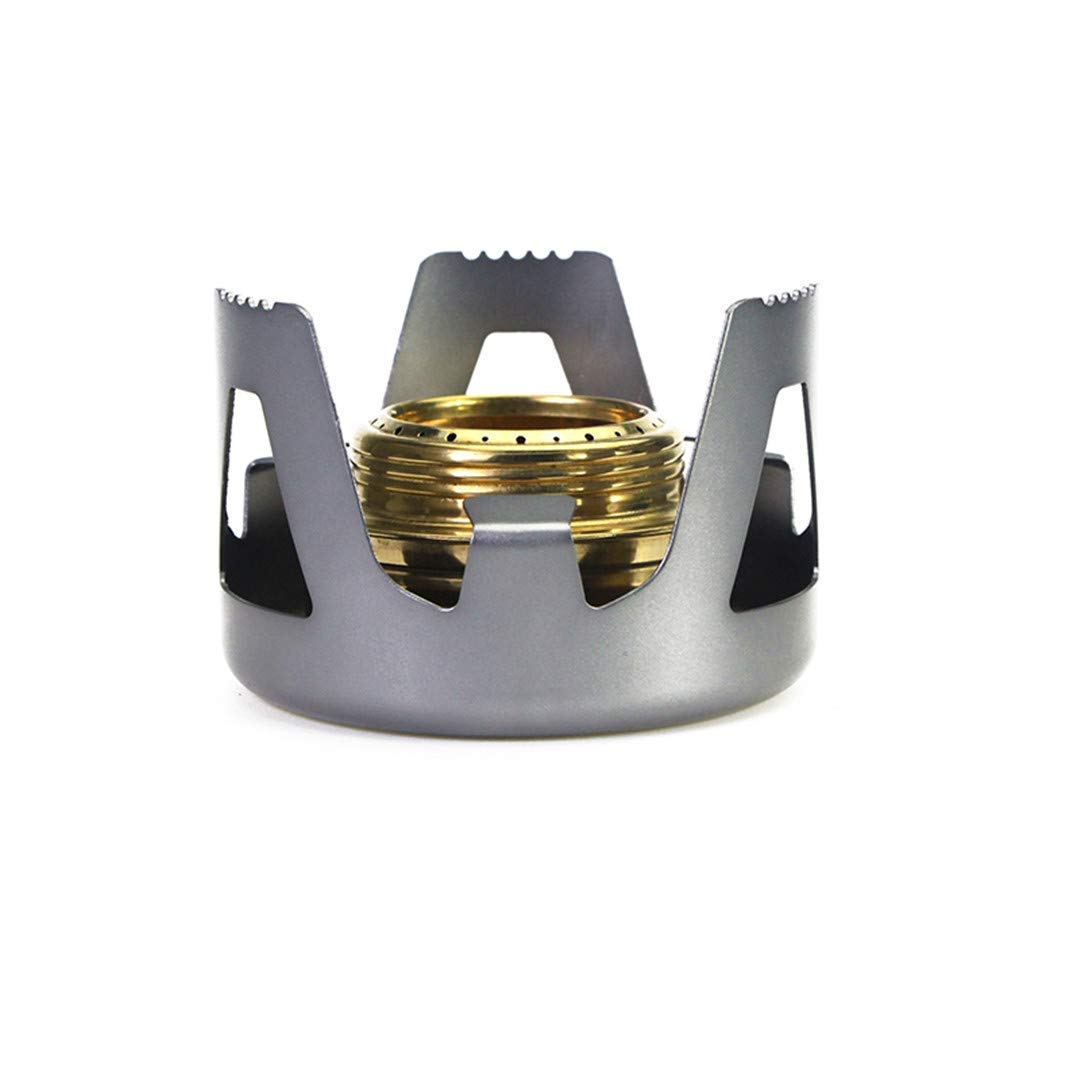 H-Henrne Outdoor Picnic Stove New Mini Ultra-Light Spirit Combustor Alcohol Stove Camping Furnace Camping Portable Folding