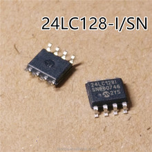 New and original IC 24LC128I 24LC128-I/SN SOP-8 128K I2C CMOS Serial EEPROM