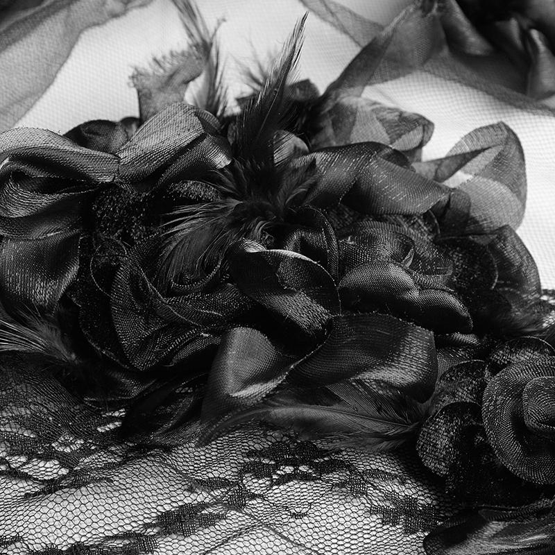 S-224 펑크 베일 3D rose 꽃 긴 레이스 웨딩 베일 대 한 웨딩