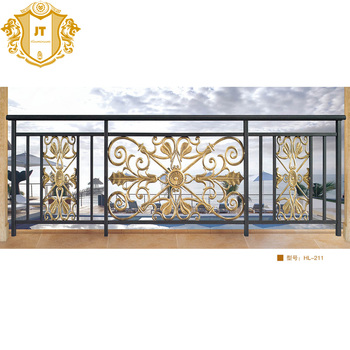 Modern Balcony Railing Designs Aluminum Rail For Barades Outdoor Railings Steel Iron