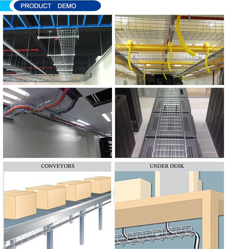 ningbo lepin Factory Outlet galvanized 50mm-1000mm sizes wire mesh cable tray  basket for data center