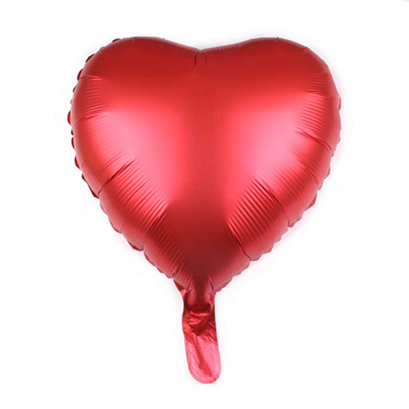 New Design EN71 Custom 18 Inch Metallic Foil Heart Shaped Foil Balloons for Wedding Valentine's Day Hen Party Decoration