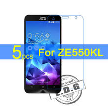 5pcs Ultra Clear LCD Screen Protector Film Cover For Asus Zenfone 2 Deluxe Laser ZE550KL Protective Film  +  cloth