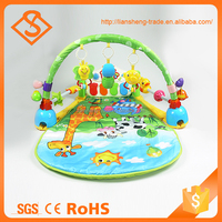 Multifunctional plastic baby fitness frame musical baby toys