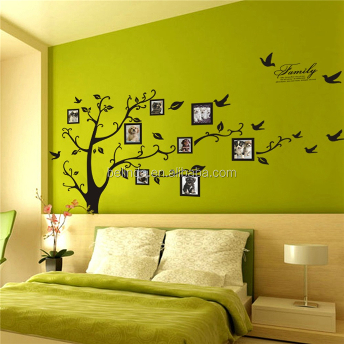 Gratis Pengiriman melalui DHL/FEDEX/SF Wall decor stiker Hitam Foto ...