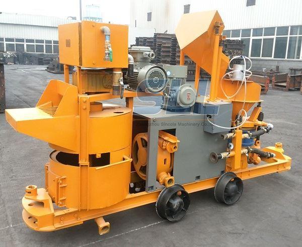 Customized Color Portable Shotcrete Machine With Cement