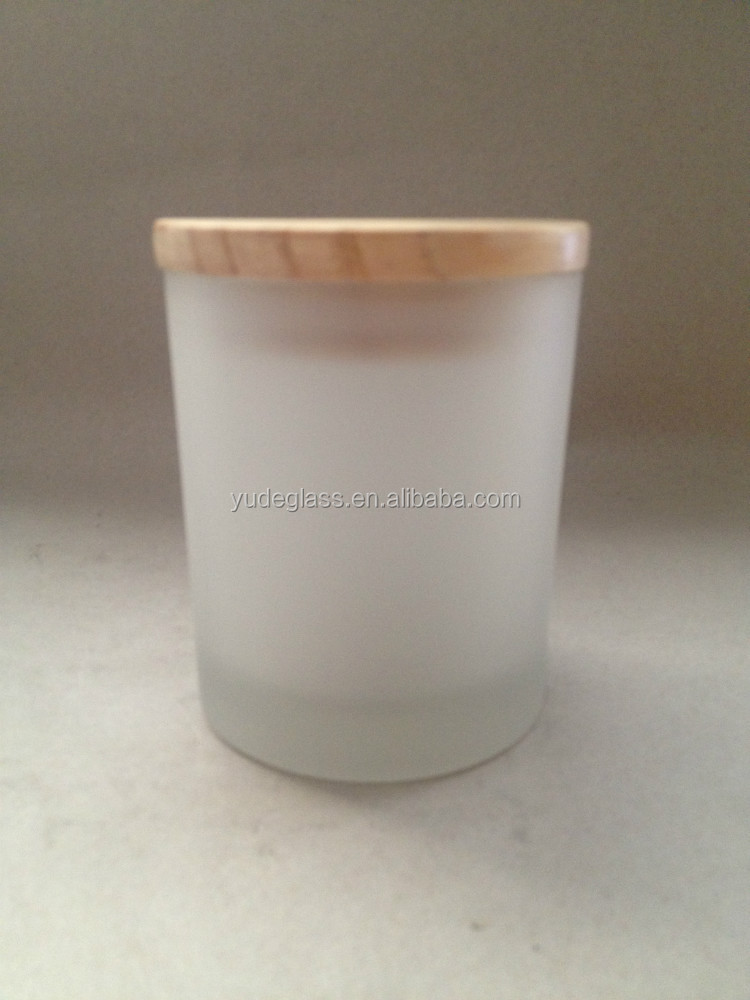 hotsale frosted glass votive candle holder and frosted glass candle jar , frosted glass candle jar with lid wholesale