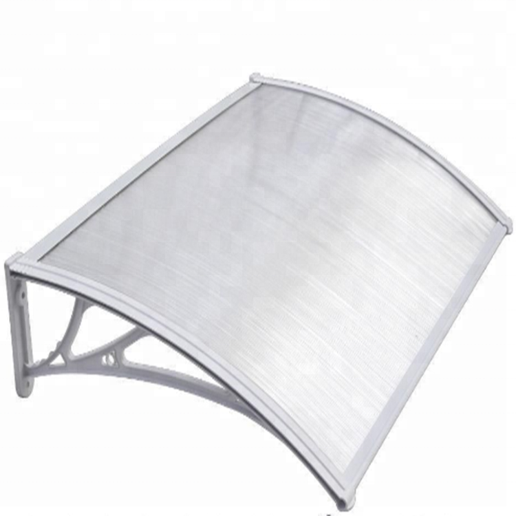 100%polycarbonate clear plastic outdoor gazebo sun rain protection for windows canopy balcony awning design
