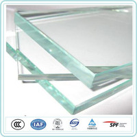 12mm Ultra Clear curved toughened tempered glass for Swimming pools