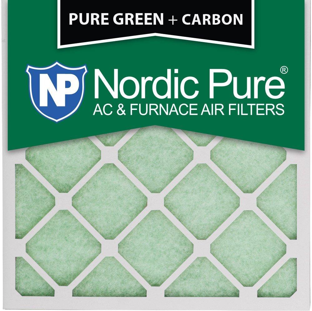 "Nordic Pure 20x20x1PureGreen+C-3 AC Furnace Air Filters, 20 x 20 x 1"", Pure Green"