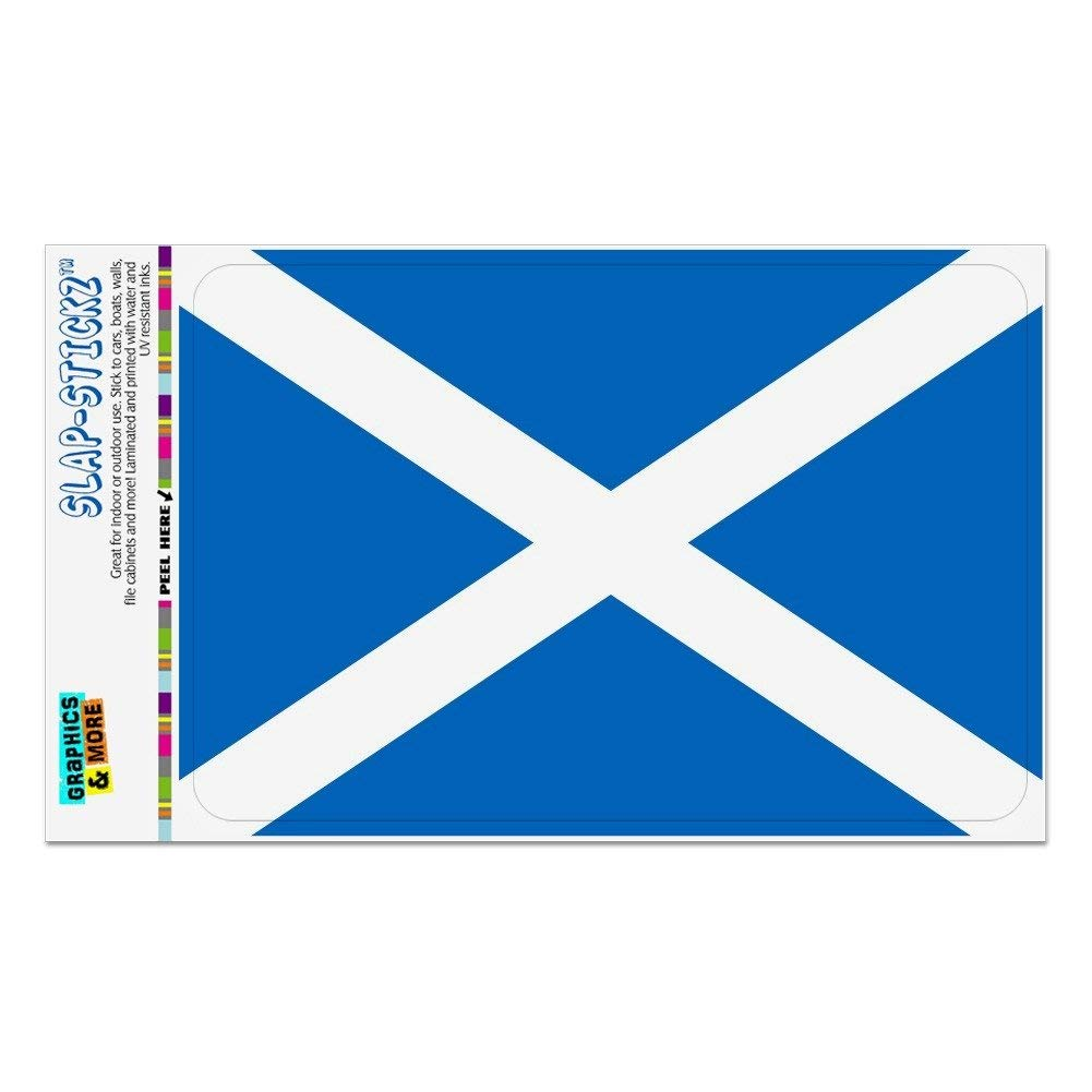 Scottish Saltire Flag Alba Car Bumper Window Oval Sticker Decal Vinyl