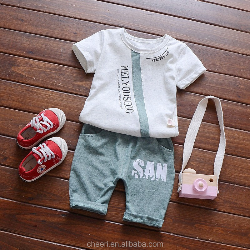 Latest Style Baby Boy Clothes Clothing Set 100 Cotton Summer
