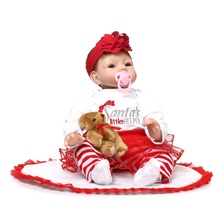 2015 hot sale 22 Inches Silicone Reborn Baby Dolls Realistic Hobbies Handmade brinquedos newborn Doll toys