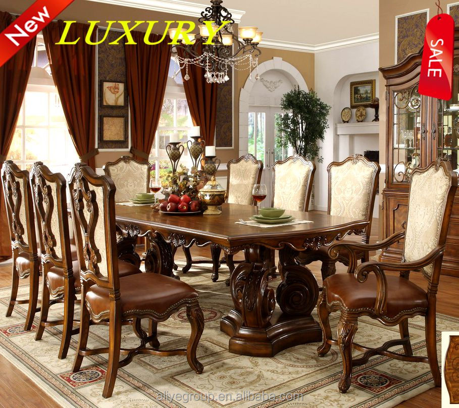 9005A-25-wood furniture made in malaysia big dining table and