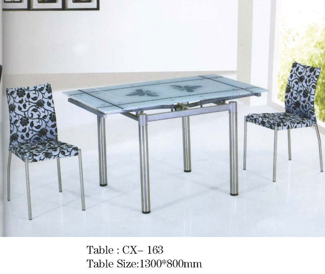 - Foldable Glass Dining Table Cx163 - Buy Mordern Dining Table