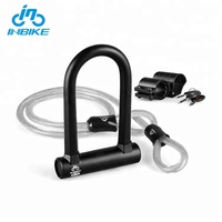 INBIKE Anti Theft Safety Steel Bicycle U-lock Mountain Bike U Lock