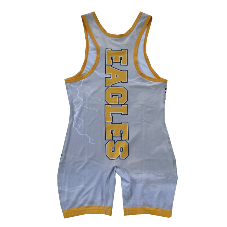 Cheap sublimated men low cut custom pro youth wrestling singlet weightlifting suit for sale