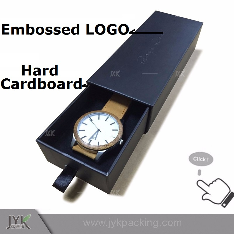 High end luxurious embossed logo print watch boxes cases