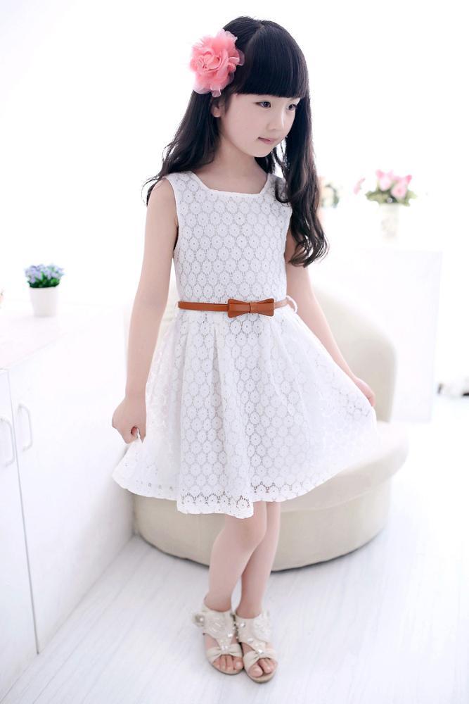 Spitze Weste Mädchen Kleid Baby Mädchen Prinzessin Kleid 2-8 Jahre ...