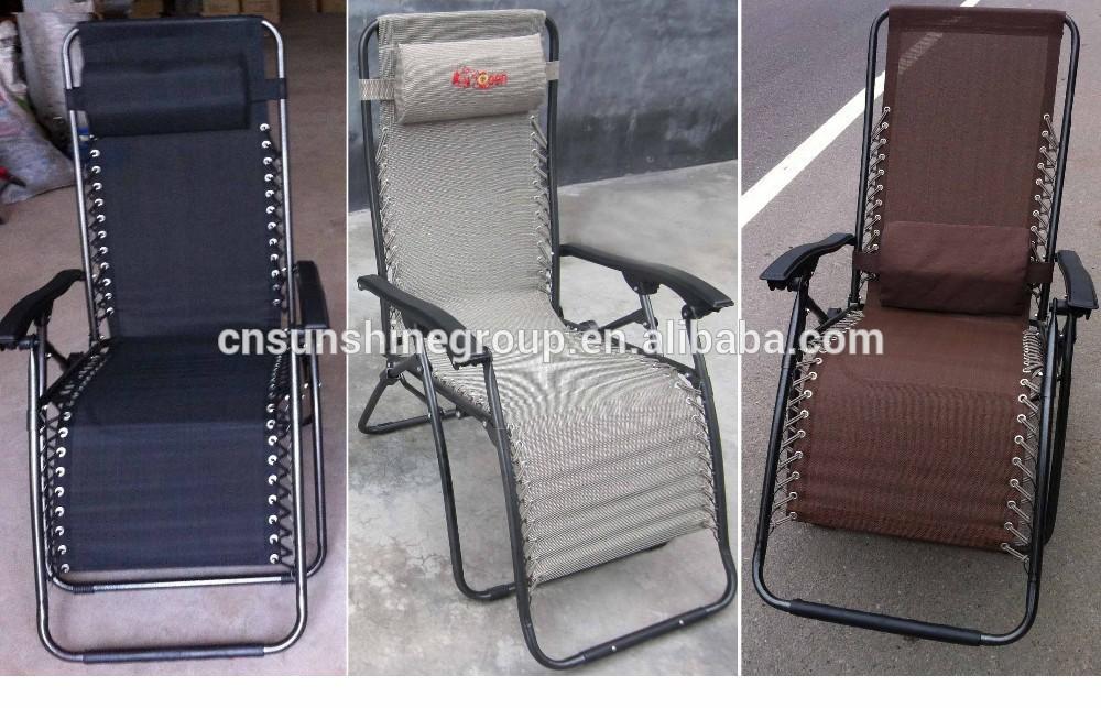 Silla plegable cero gravedad plegable silla reclinable silla tumbona mesas de camping - Silla tumbona ...