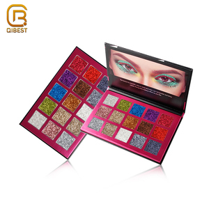QIBEST Private Label Wet Creme Powder Metallic Pigment Eyeshadow Palette