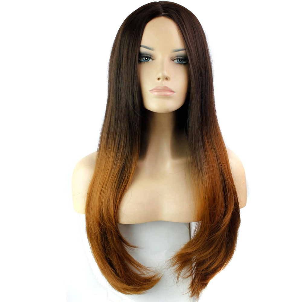 Straight perm solution - Get Quotations 2015 Women Synthetic Hair None Lace Wigs Natural Wigs Can Perm Long Straight None Bang Hairstyle
