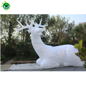 Christmas holiday decoration pure white elk inflatable animal model for event ST929