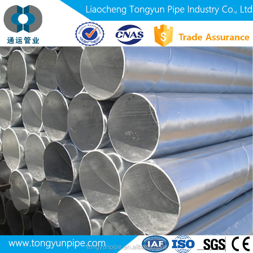queen quality A53 well drilling galvanized ERW welded steel pipe