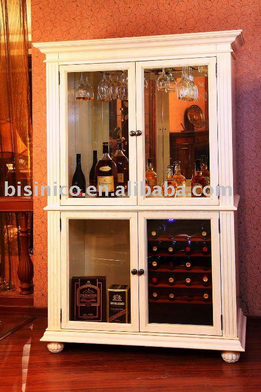 Luxe salon armoire à vin, Bois massif meubles de salon-Meubles en ...