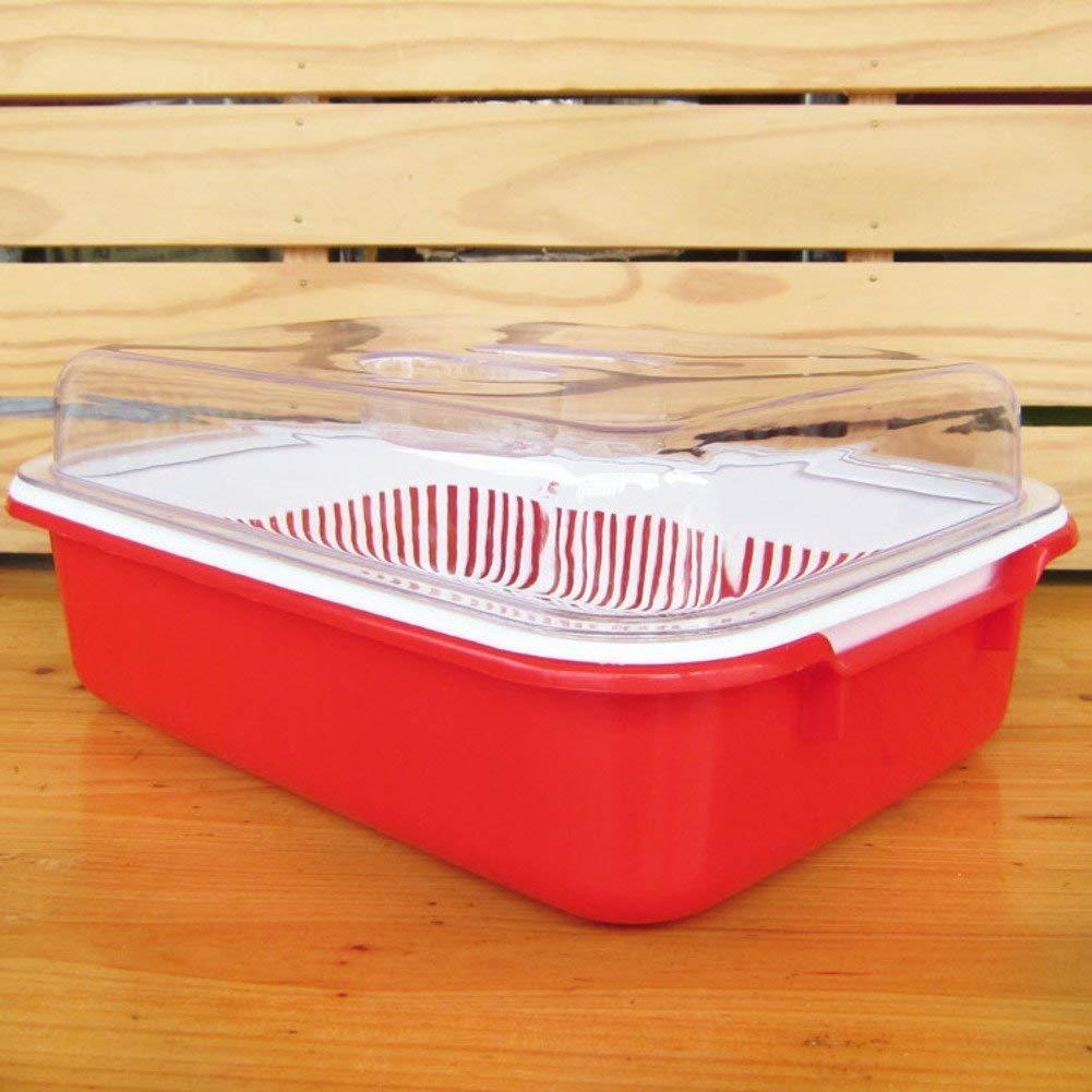 ZHAS How basket plastic fruit plate drain double drain basket colorful vegetable basket Vegetable-D
