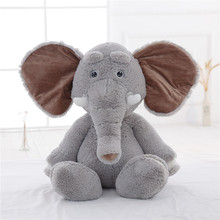 Cute Plush Colorful Elephant Soft Stuffed Wild Animal Elephant Toy With Big Ears,Pink Bear