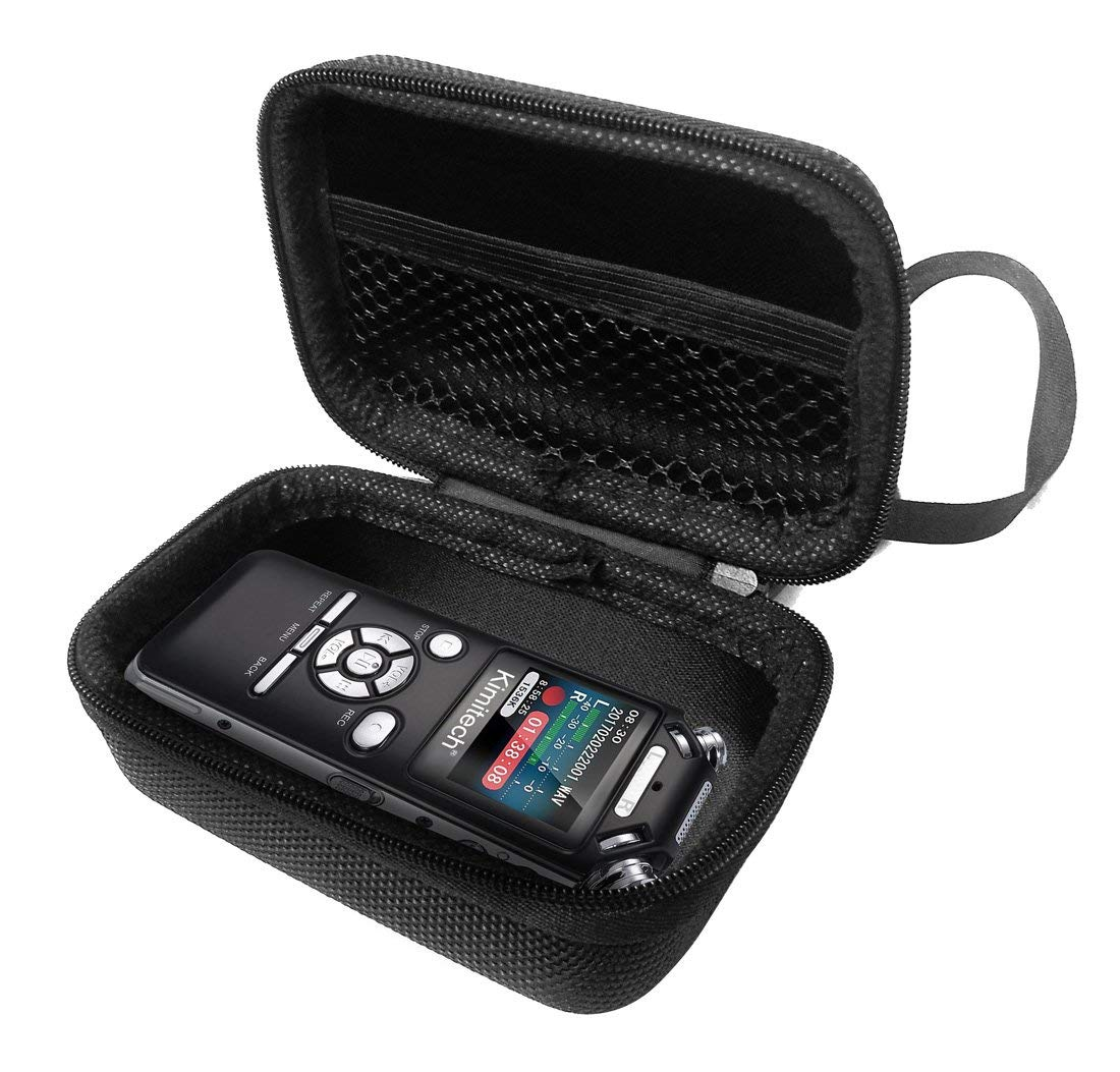 FitSand Hard Case for Kimitech Voice Recorder 8GB Portable Digital Audio Recorder Travel Zipper Carry EVA Best Protection Box