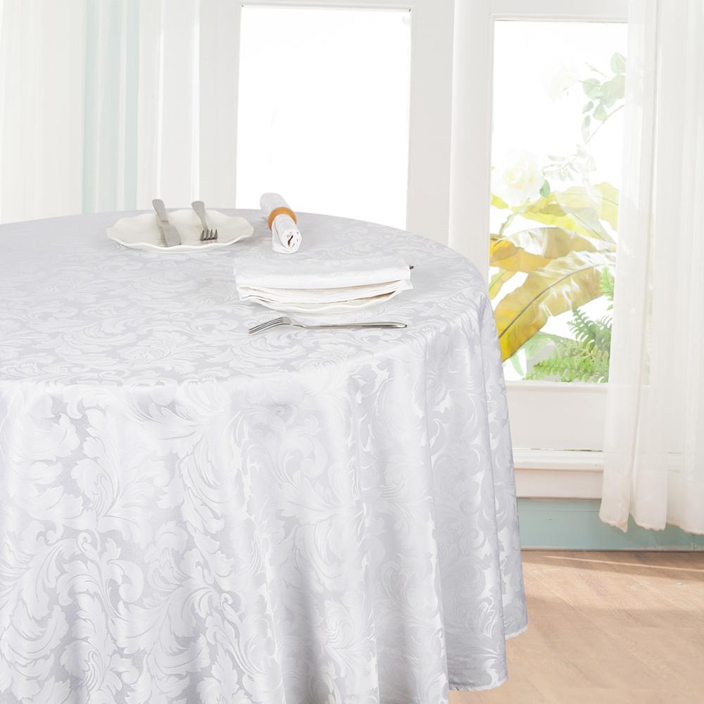 Hotel table cover jacquard round tablecloths custom table cloth