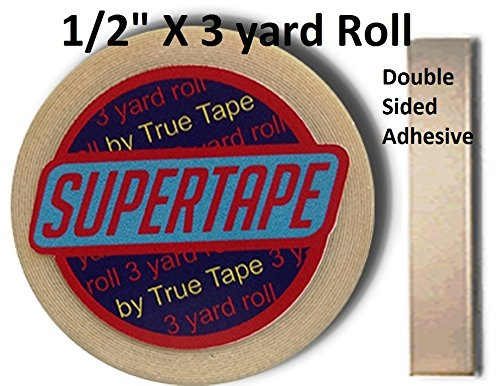 """Supertape 1/2"""" X 3 yard roll Double side adhesive with Plastic Storage Case"""