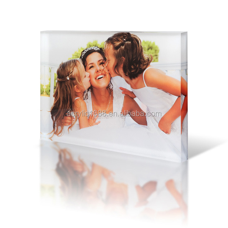 High quality block a5 acrylic photo frames free standing