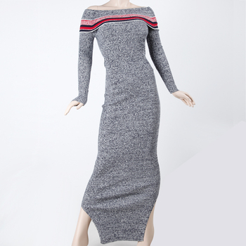 89072c1a240 Off Shoulder Knitted Sexy Sweater Long Dresses For Women - Buy Off ...
