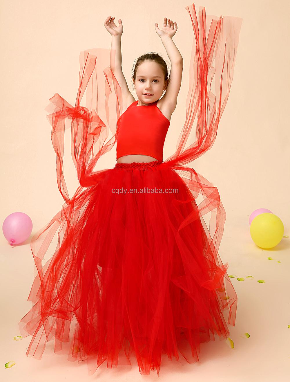 f43228db6 Mini diseño tela de tul de las niñas vestidos puffy falda de tul baile rojo  tutu