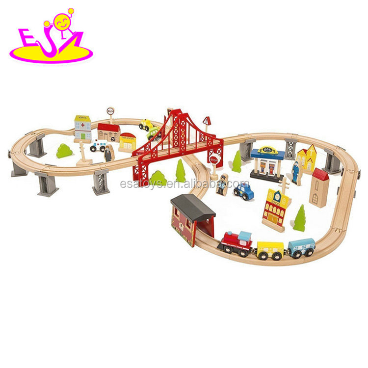 Best Railway Train Toy for kids,Culture Train educational toy for children,wooden toy wooden train toy set for baby W04C073