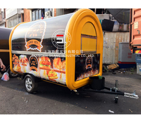 SLUNG 7.6*5.5ft yellow food cart trailer Various configurations can be production according to the requirements